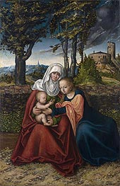 The Virgin and Child with St Anne, c.1516 von Lucas Cranach | Gemälde-Reproduktion