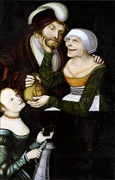 An Ill-Matched Pair, c.1540 by Lucas Cranach | Painting Reproduction