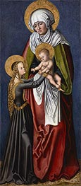 The Virgin and Child with St Anne | Lucas Cranach | Gemälde Reproduktion