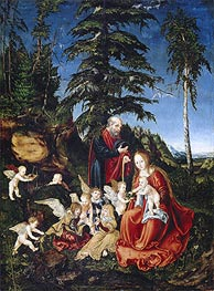Rest on the Flight into Egypt, 1504 by Lucas Cranach | Painting Reproduction
