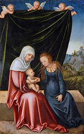 The Virgin and Child with St Anne, c.1520 by Lucas Cranach | Painting Reproduction