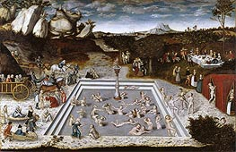 The Fountain of Youth, 1546 by Lucas Cranach | Painting Reproduction