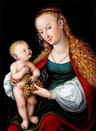 The Virgin and Child with a Bunch of Grapes | Lucas Cranach | Painting Reproduction