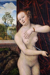 The Suicide of Lucretia, c.1518 by Lucas Cranach | Painting Reproduction