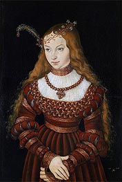 Portrait of Princess Sibylle of Cleve | Lucas Cranach | Painting Reproduction