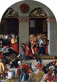 Expulsion of the Money-Changers from the Temple | Lucas Cranach | Painting Reproduction