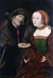 An Ill-Matched Couple | Lucas Cranach | Painting Reproduction