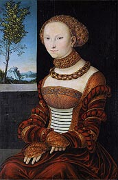 Portrait of a Young Woman (Sibylle of Cleve) | Lucas Cranach | Painting Reproduction