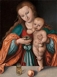 Madonna and Child, c.1535 by Lucas Cranach | Painting Reproduction