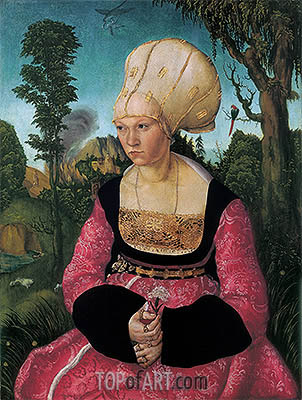 Anna Putsch, First Wife of Dr. Johannes Cuspinian, c.1502/03 | Lucas Cranach | Painting Reproduction