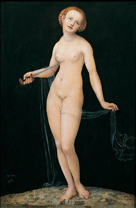 Lucretia, 1532 | Lucas Cranach | Painting Reproduction