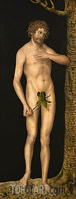Adam, 1537 | Lucas Cranach | Painting Reproduction