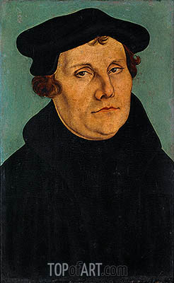 Portrait of Martin Luther, 1529 | Lucas Cranach | Gemälde Reproduktion