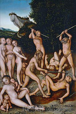 The Silver Age (The Effects of Jealousy), 1535 | Lucas Cranach | Gemälde Reproduktion