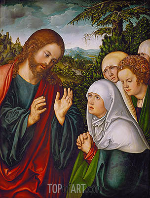 Christ's Farewell to the Holy Women, c.1520 | Lucas Cranach | Painting Reproduction
