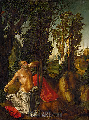 The Penitence of St. Jerome, 1502 | Lucas Cranach | Painting Reproduction