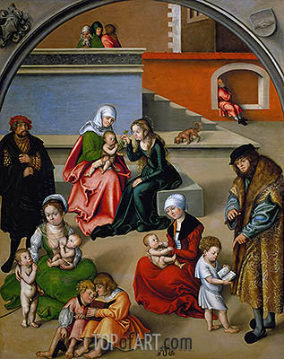 The Holy Kinship, undated | Lucas Cranach | Gemälde Reproduktion