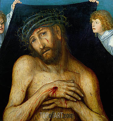 Christ with the Crown of Thorns, 1515 | Lucas Cranach | Painting Reproduction