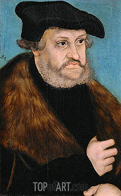 Portrait of Frederick the Wise, Elector of Saxony, c.1525/27 | Lucas Cranach | Gemälde Reproduktion