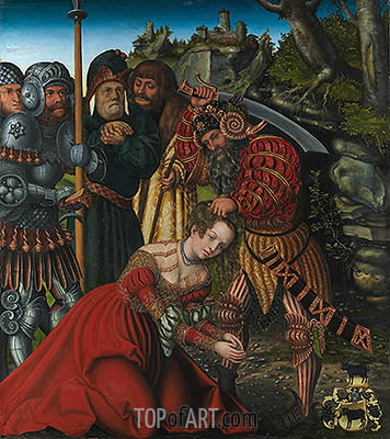 The Martyrdom of Saint Barbara, c.1510 | Lucas Cranach | Painting Reproduction