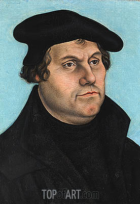 Martin Luther, undated | Lucas Cranach | Painting Reproduction