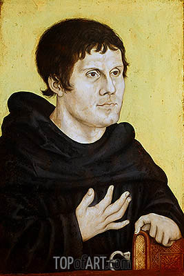 Portrait of Martin Luther as a Young Man, c.1520 | Lucas Cranach | Painting Reproduction
