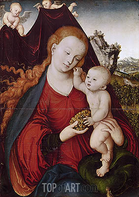 Madonna of the Grapes, c.1525 | Lucas Cranach | Gemälde Reproduktion