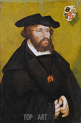 Portrait of King Christian II of Denmark, 1523 | Lucas Cranach | Painting Reproduction
