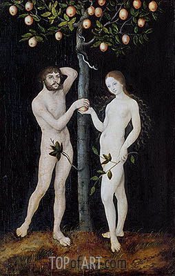 Adam and Eve, 1521 | Lucas Cranach | Painting Reproduction