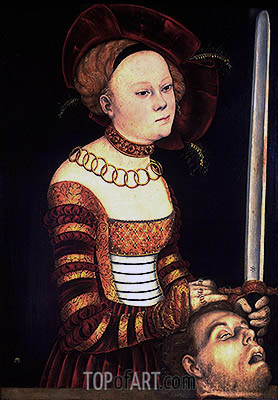 Judith with the Head of Holofernes, c.1537/40 | Lucas Cranach | Painting Reproduction