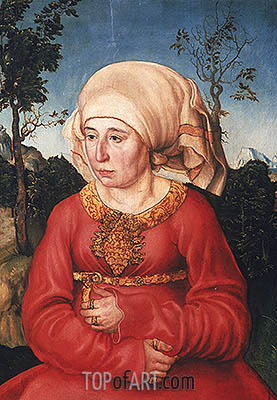 Wife of Dr. Johann Reuss, 1503 | Lucas Cranach | Painting Reproduction