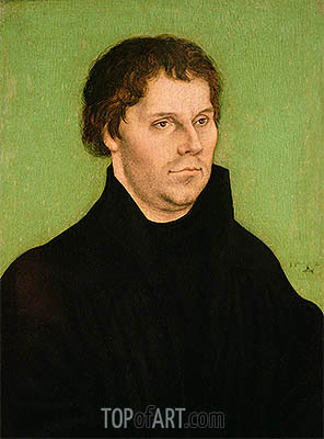 Portrait of Martin Luther, 1525 | Lucas Cranach | Painting Reproduction