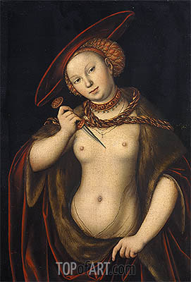 Lucretia, undated | Lucas Cranach | Painting Reproduction