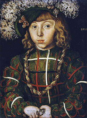 Portrait of Johann Friedrich the Magnanimous, 1509 | Lucas Cranach | Painting Reproduction
