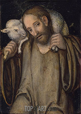 The Good Shepherd, undated | Lucas Cranach | Painting Reproduction