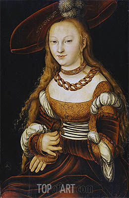 Portrait of a Young Lady, c.1350 | Lucas Cranach | Gemälde Reproduktion