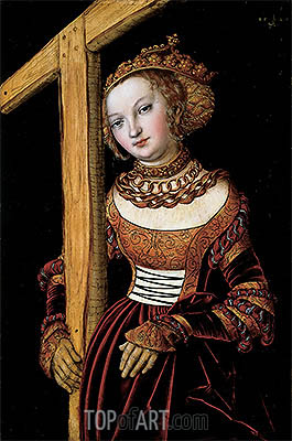 Saint Helena with the True Cross, 1525   Lucas Cranach   Painting Reproduction