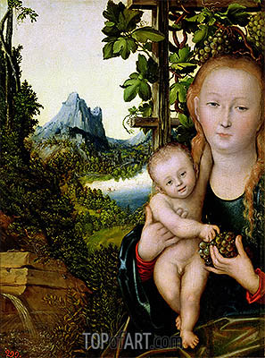 Virgin and Child, c.1520 | Lucas Cranach | Painting Reproduction