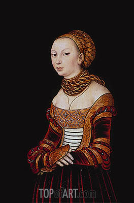 Portrait of a Young Woman, 1525 | Lucas Cranach | Painting Reproduction
