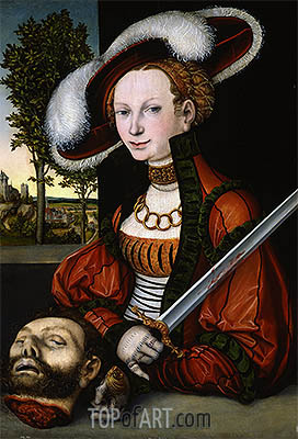 Judith with the Head of Holofernes, 1530 | Lucas Cranach | Gemälde Reproduktion