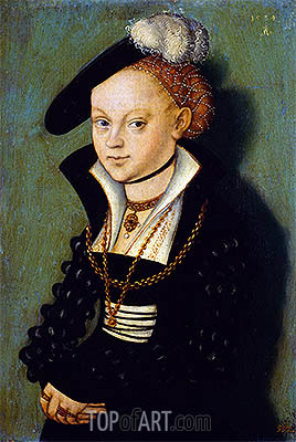 Christiane Eulenau, 1534 | Lucas Cranach | Painting Reproduction