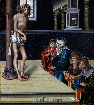 Christ at the Column, 1515 | Lucas Cranach | Painting Reproduction