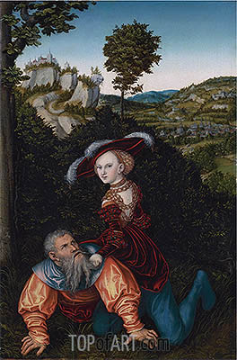 Phyllis and Aristotle, 1530 | Lucas Cranach | Painting Reproduction