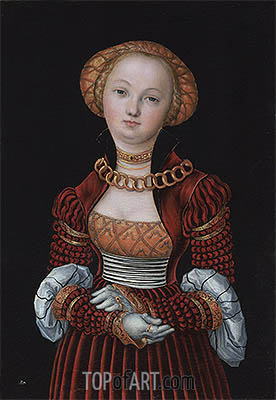 Portrait of a Woman, c.1525 | Lucas Cranach | Gemälde Reproduktion
