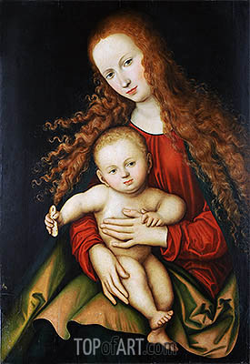 The Virgin and Child, 1529 | Lucas Cranach | Painting Reproduction