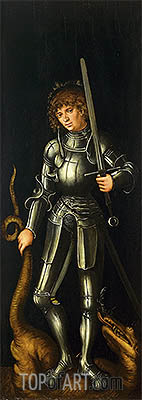 Saint George, c.1514 | Lucas Cranach | Painting Reproduction