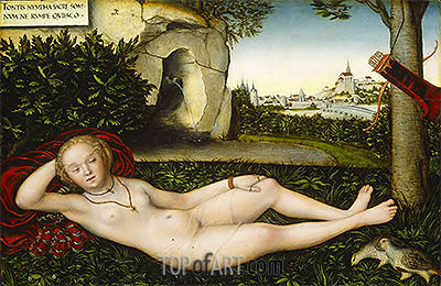 The Nymph of the Spring, 1537 | Lucas Cranach | Painting Reproduction