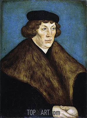 Portrait of Count Palatine Philipp of the Rhein, Bishop of Naumburg and Bishop of Freising, 1528 | Lucas Cranach | Gemälde Reproduktion