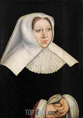 Portrait of Margaretha of Savoy, Governor of the Netherlands, c.1530 | Lucas Cranach | Gemälde Reproduktion