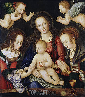 Princes' Altarpiece, c.1507/09 | Lucas Cranach | Painting Reproduction
